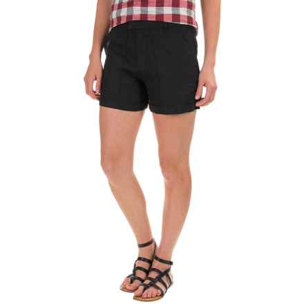 Jones & Co Fitted Linen Shorts (For Women) in Black - Closeouts