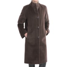Jones New York Alpaca Blend Coat - Button Front (For Women) in Taupe - Closeouts