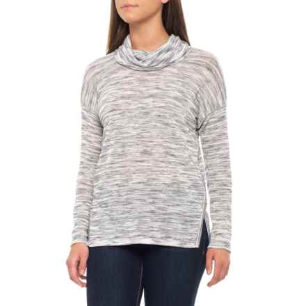 Jones New York Cowl Neck Pullover Sweater (For Women) in Silver Grey Combo - Closeouts