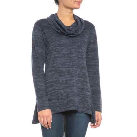 Jones New York Cowl Neck Sweater (For Women) in Navy Combo - Closeouts