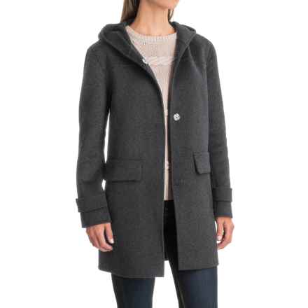 Jones New York Double-Face Hooded Coat - Wool Blend (For Women) in Grey - Closeouts