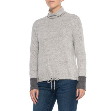 810357204ba3d Jones New York Front Tie Turtleneck Shirt - Long Sleeve (For Women) in Ivory