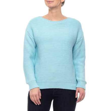 4ab41e18ea986 Jones New York Glacier Boat Neck Drop Shoulder Hi-Lo Pullover Shirt - Long  Sleeve