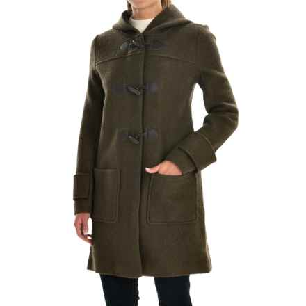 Jones New York Hooded Boiled Wool Coat (For Women) in Capers - Closeouts