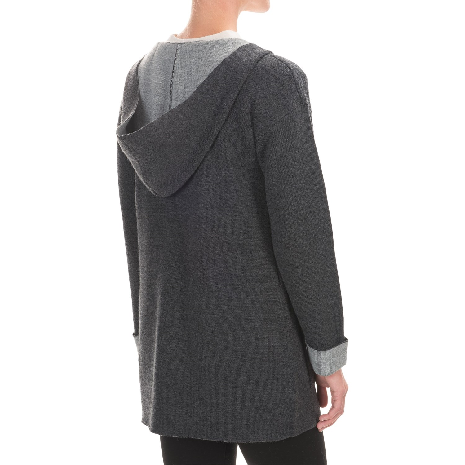 Womans Hooded Cardigan Sweater 4