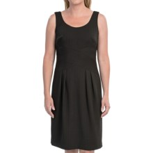 Jones New York Jacquard Midriff Sheath Dress - Sleeveless (For Women) in Black - Closeouts