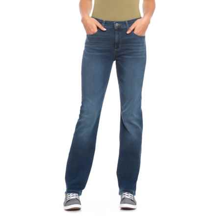 Jones New York Lexington Straight Leg Jeans (For Women) in Blue Water Wash - Closeouts