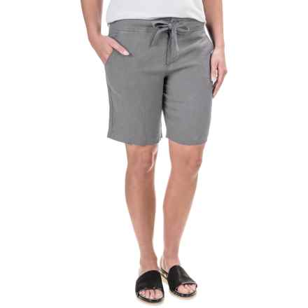 Jones New York Linen Shorts (For Women) in Light Grey - Overstock