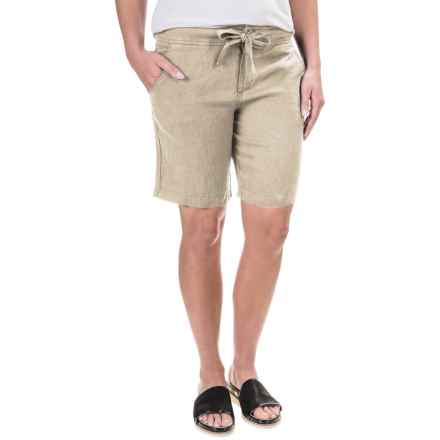 Jones New York Linen Shorts (For Women) in Soft Khaki - Overstock