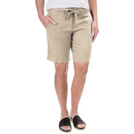 Jones New York Linen Shorts (For Women) in Soft Khaki - Overstock