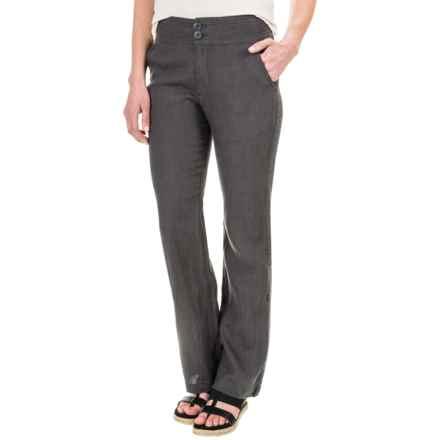 Jones New York Linen Stitch Detailed Pants (For Women) in Soot - Overstock