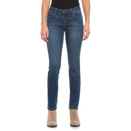 Jones New York Madison Slim Jeans (For Women) in Blue Water Wash - Closeouts