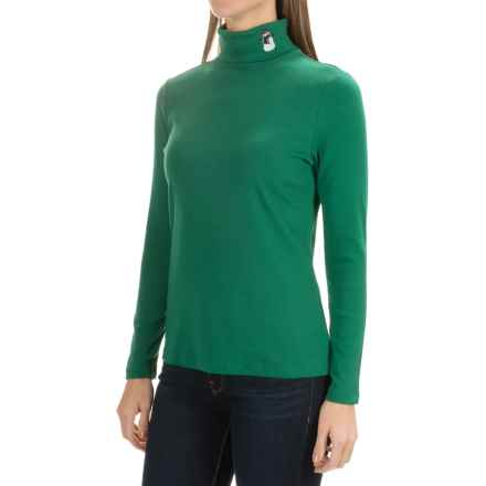 Jones New York Mister Snowman Turtleneck - Long Sleeve (For Women) in Holly Atcha Girl - Closeouts