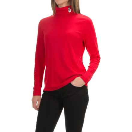 Jones New York Mister Snowman Turtleneck - Long Sleeve (For Women) in Red Grenadine - Closeouts