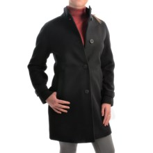 Jones New York Mock Neck Coat - Wool Bend (For Women) in Black - Closeouts