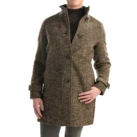 Jones New York Mock Neck Coat - Wool Bend (For Women) in Brown - Closeouts
