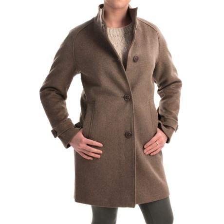 Jones New York Mock Neck Coat - Wool Bend (For Women)
