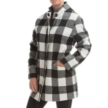 Jones New York Plaid Coat (For Women) in Black/White - Closeouts