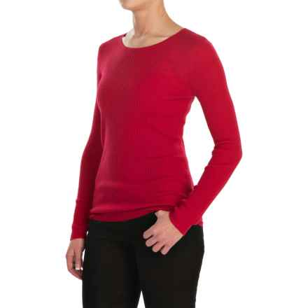 Jones New York Rib-Knit Sweater - Merino Wool For Women) in Cabernet Red - Closeouts