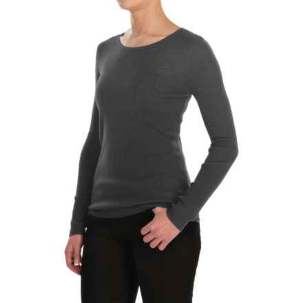 Jones New York Rib-Knit Sweater - Merino Wool For Women) in Charcoal Heather - Closeouts