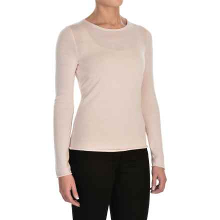 Jones New York Roll-Edge Light Sweater -  Merino Wool (For Women) in Pearl - Closeouts