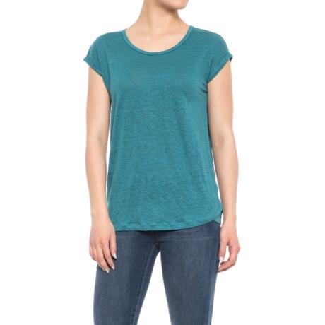 Jones New York Rolled Dolman Sleeve Shirt - Scoop Neck, Short Sleeve (For Women)