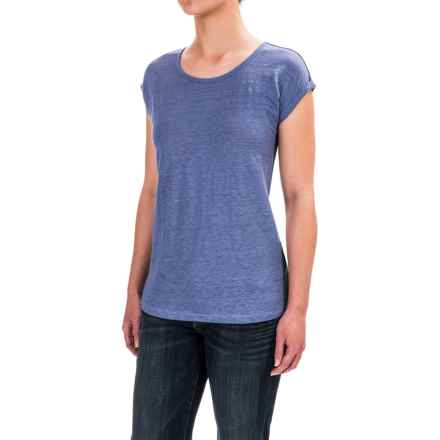 Jones New York Rolled Dolman Sleeve Shirt - Short Sleeve (For Women) in Belize Bliss - Closeouts