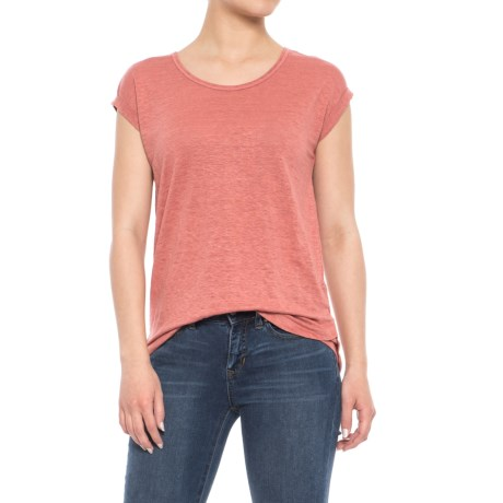 Jones New York Rolled Dolman Sleeve Shirt - Short Sleeve (For Women) in Canyon