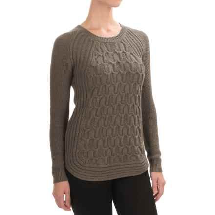 Jones New York Textured Cotton Sweater (For Women) in Bark Heather - Closeouts