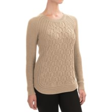 Jones New York Textured Cotton Sweater (For Women) in Neutral Heather - Closeouts