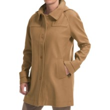 Jones New York Wool Blend Coat - Detachable Hood (For Women) in Camel - Closeouts