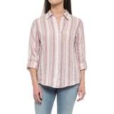 Jones New York Yarn-Dyed Stripe Linen Shirt - Long Sleeve (For Women)