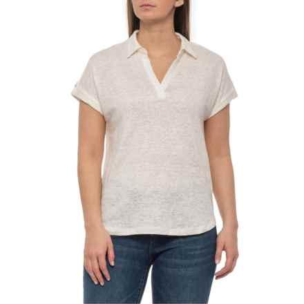 f62028e9c860a8 Jones NY Oyster Dolman Johnny Collar Shirt - Linen, Short Sleeve (For Women)