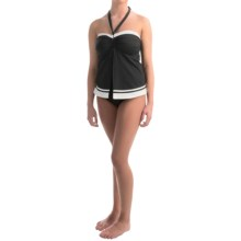 Jones Swimwear Core Bandeau Flyaway Tankini Set (For Women) in Black - Overstock