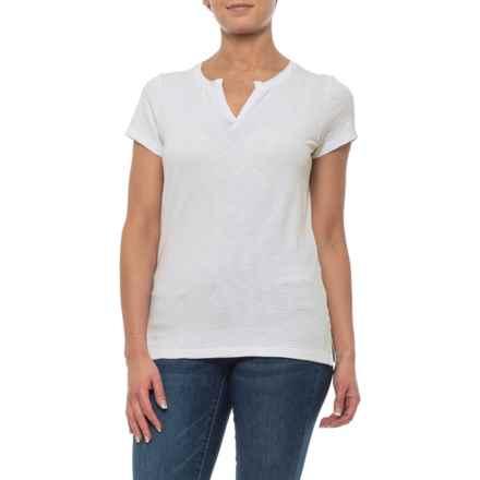 84e648d31b08f1 Jones White Notch Collar Shirt - Short Sleeve (For Women) in White -  Closeouts