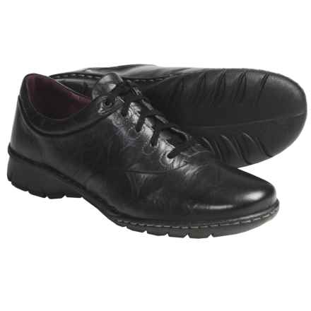 Josef Seibel Alexis Shoes - Crinkled Leather, Lace-Ups (For Women) in Black - Closeouts