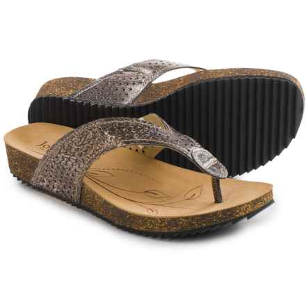Josef Seibel Angie 11 Flip-Flops - Leather (For Women) in Basalt - Closeouts