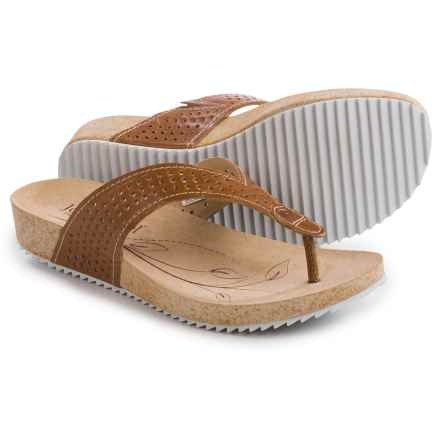 Josef Seibel Angie 11 Flip-Flops - Leather (For Women) in Camel - Closeouts