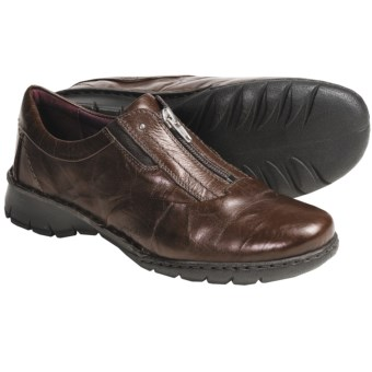 Josef Seibel Annie Shoes - Leather, Zip Front (For Women) in Chestnut