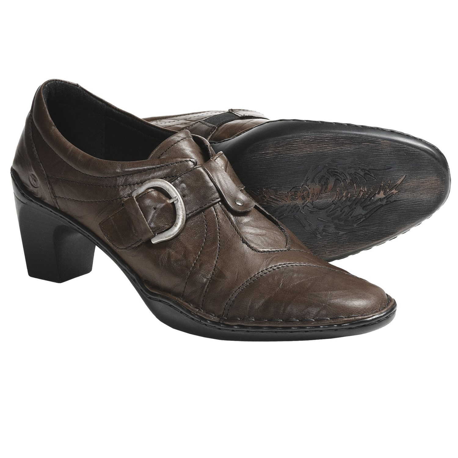 Josef Seibel Calla 03 Shoes - Leather, Slip-Ons (For Women) in Olive