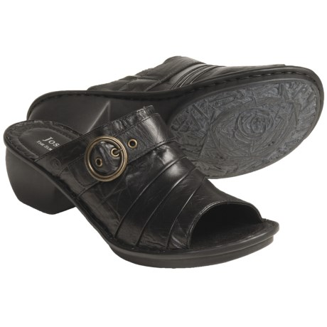 Josef Seibel Carly Shoes - Leather, Open Back (For Women) in Black