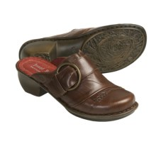 Josef Seibel Carmen Leather Clogs - Open Back (For Women) in Chestnut - Closeouts