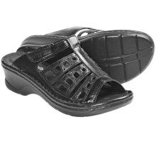 Josef Seibel Catalonia 18 Peep-Toe Sandals (For Women) in Black - Closeouts