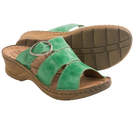 Josef Seibel Catalonia 25 Sandals - Leather (For Women) in Mint Green