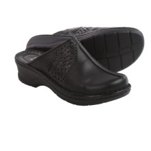 Josef Seibel Catalonia 28 Leather Clogs (For Women) in Black/Anthracite - Closeouts