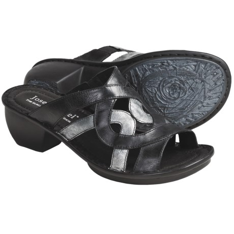 Josef Seibel Cecily Leather Sandals (For Women) in Black Dandy