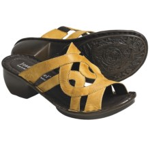 Josef Seibel Cecily Leather Sandals (For Women) in Saffron Capri - Closeouts