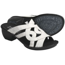 Josef Seibel Cecily Leather Sandals (For Women) in White Puket - Closeouts