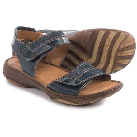 Josef Seibel Debra 19 Sandals - Leather (For Women) in Denim - Closeouts