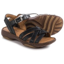 Josef Seibel Debra 23 Criss-Cross Sandals (For Women) in Black - Closeouts
